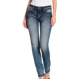Rock Revival Mid-Rise Straight Jeans Blue Size 25